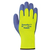 AnsellPro PowerFlex® T Hi Viz Yellow™ Gloves 80-400-9, Blue/Yellow, Work, Medium, 6/Pack (012-80-400-9)