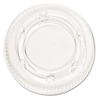 Boardwalk Crystal-Clear Portion Cup Lids, Clear, 2,400/case (PAC YLS-2FR) PCTYLS2FR