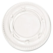 Boardwalk® Crystal-Clear Portion Cup Lids, Clear, 2,400/case (PAC YLS-2FR)