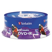 Verbatim® DVD+R Disc, 4.7 GB, Spindle, 25/Pack (96190)