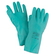 AnsellPro Sol-Vex® Sandpatch-Grip Nitrile Gloves, Green, Large, 12/Pack (012-37-145-10)