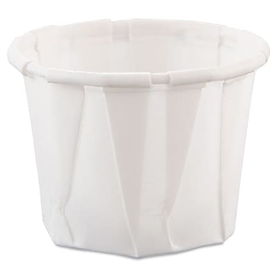 SOLO Cup Company Paper Portion Cups, 0.75 oz, White, 5,000/case (SCC 075) 150278