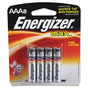 Energizer® MAX® Alkaline Batteries, AAA, 8/Pack (E92MP8)