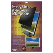 "Kantek Secure-View Black-Out Privacy Filter, Laptop/Flat Panels, 18.5"" Widescreen, 16:9, LCD (SVL18.5W)"