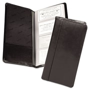 "Samsill® Regal™ Leather Business Card File, 2"" x 3 1/2"", 96-Capacity, Black (81240)"