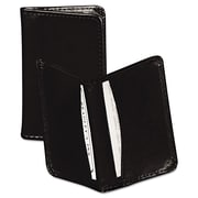 "Samsill® Regal™ Leather Business Card Wallet, 2"" x 3 1/2"", 25-Capacity, Black (81220)"