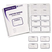 C-Line® Visitor Badges with Registry Log, 150/Box (97030)