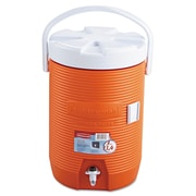 Rubbermaid® Water Cooler, 3 gal, 12 1/2 in-Diameter, Polyethylene, Orange, Each (RHP 1683 ORG)