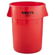 Rubbermaid® Commercial Round Brute® Container, 44 gal, Red, Each (RCP 2643 RED)