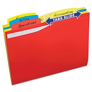 Avery® Slide & Lift Tab File Folder, Letter, Assorted, 24/Pack (73504)