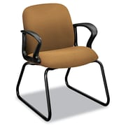 HON® Gamut® Series Guest Arm Chair, 100% Polyester, Loop, Caramel (H2073.CU26.T)