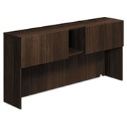 HON®, Voi Stack-On Storage Unit, 72w x 14-1/4d x 35h, Columbian Walnut (HLSL1472DB.Z.Z)