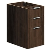 HON® Voi® Support Pedestal, 3 Drawer(s), Columbian Walnut, Legal; Letter (HLSL2028B.Z.Z.T1)