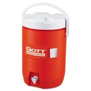Rubbermaid® Commercial Insulated Beverage Container, 3 gal, Polyethylene, Orange/White, Each (325-1683-IS-ORNG)