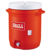 "Rubbermaid® Commercial Insulated Beverage Container, 10 gal, 15.85""-Diameter, Orange/White (325-1610-IS-ORAN)"