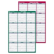 AT-A-GLANCE® Vertical Erasable Wall Planner, 2015-2016; 2016, 24 x 36, Blue/White; Red/White (PM210S2813)