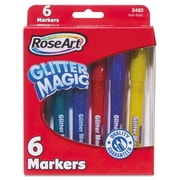 RoseArt® Glitter Magic Markers, Broad, Assorted, 1/Pack (3485YA-24)