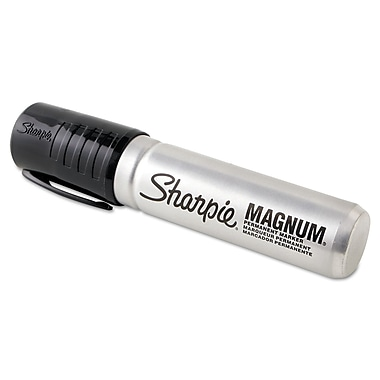 Sharpie® Magnum Permanent Marker 44001, Chisel, Black, 12/Box (SNF 44001)