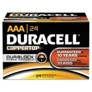 Duracell® CopperTop® Alkaline Batteries with Duralock Power Preserve™ Technology, AAA, 24/Box (MN2400BKD01)