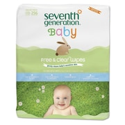 Seventh Generation® Free & Clear Baby Wipes, 256/Pack (34219)