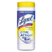 "LYSOL® Brand Dual Action™ Disinfecting Wipes, 7"" x 8"", Citrus (REC 81143)"
