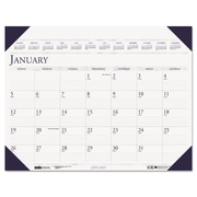 House of Doolittle™ Executive Monthly Desk Pad Calendar, 2016, 24 x 19, Blue (180HD)