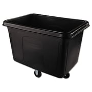 Rubbermaid® Commercial Cube Truck, 104.700 gal, Black, Each (RCP 4614 BLA)