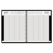 2016, AT-A-GLANCE® Eight-Person Group Daily Appointment Book, Black (7021276)