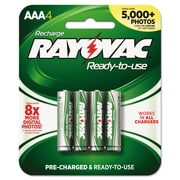 Rayovac® Recharge Plus NiMH Batteries, AAA, 4/Pack (PL724-4)