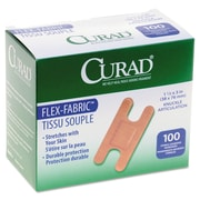 "Curad® Flex Fabric Bandages, Knuckle, 1 1/2"" x 3"", 100/Box (NON25510)"