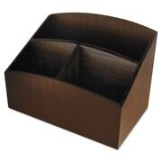 Artistic®, Eco-Friendly Bamboo Curves Desk Organizer, 7 1/4 x 4 3/4 x 5 1/4, Espresso, Each (ART11006C)