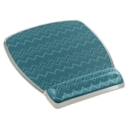"3M Fun Design Clear Gel Mouse Pad Wrist Rest, Plastic, 6 4/5"" x 8 3/5"" x 3/4"", Chevron, Green (MW308GR)"