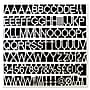 MasterVision®® White Plastic Set of Letters, Numbers &