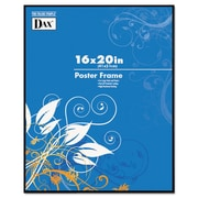 DAX® Coloredge Poster Frame, Plastic, 16 x 20, Black, Each (N16016BT)