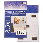 DAX® Velcro®/Magnetic Cubicle Photo/Document Frame, Plastic, 8 1/2 x 11, Clear, Each (N140285M)
