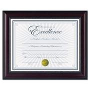 DAX® Prestige Document Frame, Plastic, 8 1/2 x 11, Rosewood/Black, Each (N3028N2T)