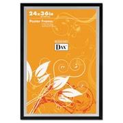 DAX® Metro Series Poster Frame, Plastic, 24 x 36, Black/Silver, Each (3404U1T)