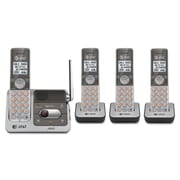 AT&T® CL82301/CL82401 Cordless Digital Answering System, 3 Handsets, Black/Silver (CL82401)