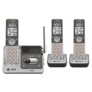 AT&T® CL82301/CL82401 Cordless Digital Answering System, 2 Handsets, Black/Silver (CL82301)