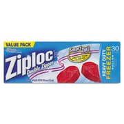 "Ziploc® Double Zipper Freezer Bags, Zipper Lock, 9 3/5"" x 12 1/10"", Clear, 9/Carton (CB003820)"
