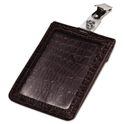 "Advantus® Croc-Textured Badge Holder, Black, 2 1/2"" x 3 3/4"", 5/Pack (AVT-76399)"