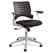 Safco® Reve™ Square Back Task Chair, 100% Polyester, T-Pad, Black (6807BL)
