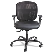 Safco® Vue™ Intensive-Use Mesh Task Chair, Vinyl, Optional height and width adjustable T-Pad, Black (3397BV)