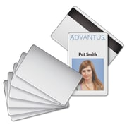 Advantus® Blank PVC ID Badge Card with Magnetic Strip, 100/Pack (AVT-76354)