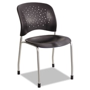 Safco® Reve™ Guest Chair with Straight Legs, Steel, Multi-Use Black/Silver, 2/Carton (6805BL)