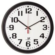 "Chicago Lighthouse Black Quartz CONTRACT Clock, 13 3/4"" x 2 3/5"" x 13 3/4"", Analog (67700000)"
