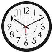"Chicago Lighthouse Electric Contemporary Clock, 14 1/2"" x 1 4/5"" x 14 1/2"", Black, Analog (67801103)"