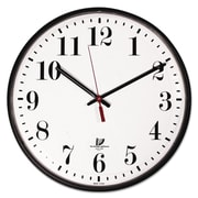 "Chicago Lighthouse Quartz Slimline Clock, 12 3/4"" x 1 4/5"" x 12 3/4"", Black, Analog (67300402)"