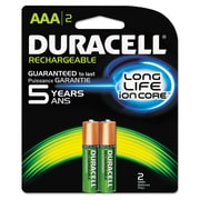Duracell® Rechargeable NiMH Batteries with Duralock Power Preserve™ Technology, AAA, 2/Pack (80232287)