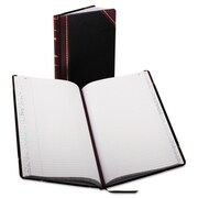 "Boorum & Pease® Record and Account Book with Black and Red Cover, Record and Account, 8.6"" x 14.3"", Black/Red (9-150-R)"